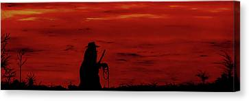 Cowboy Canvas Print by Robert Marquiss