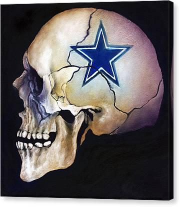Cowboy Skull Canvas Print by Kd Neeley