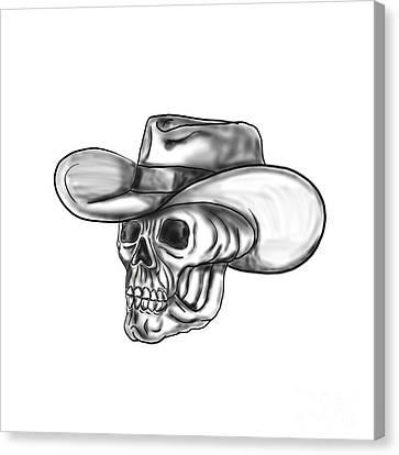 Cowboy Skull Tattoo Canvas Print by Aloysius Patrimonio