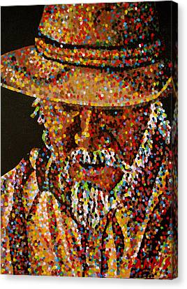 Cowboy Vi Canvas Print by Denise Landis