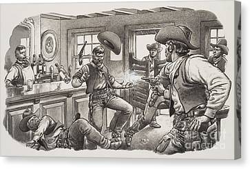 Cowboys Of Oregon  Canvas Print by Pat Nicolle