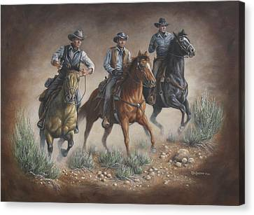 Cowboys Of Star Trek Canvas Print by Kim Lockman