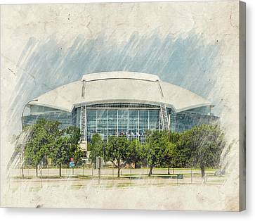 Cowboys Stadium Canvas Print by Ricky Barnard