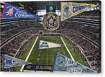 Cowboys Super Bowls Canvas Print