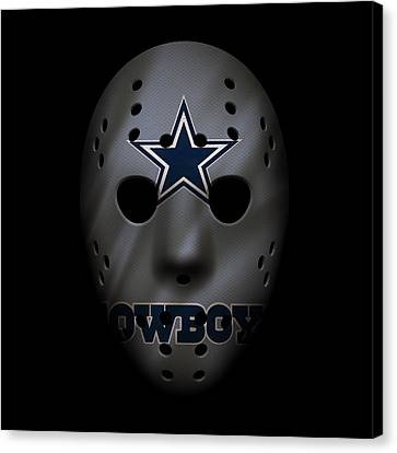 Player Canvas Print - Cowboys War Mask 2 by Joe Hamilton