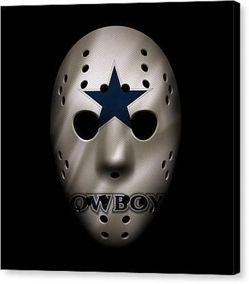 Cowboys War Mask 3 Canvas Print by Joe Hamilton