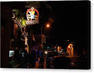 Santa Fe Cowgirl Canvas Print - Cowgirl Bar In Santa Fe by Irina ArchAngelSkaya