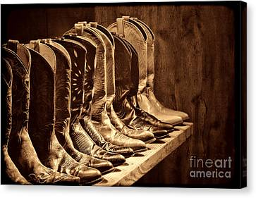 Cowgirl Boots Collection Canvas Print by American West Legend By Olivier Le Queinec