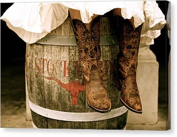 Cowgirl Boots Canvas Print