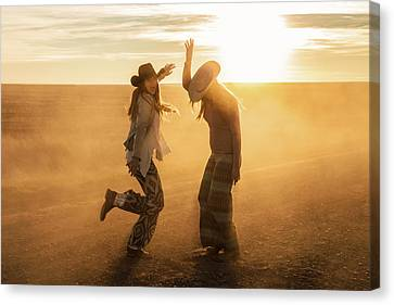 Cowgirl Dance Canvas Print by Todd Klassy