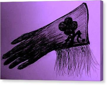 Cowgirl Glove Plum Classy Canvas Print by Susan Gahr