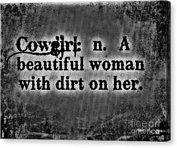 Cowgirls B-w Canvas Print