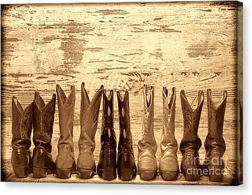 Cowgirls Night Out Canvas Print