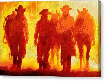 Cowpeople Canvas Print by Caito Junqueira