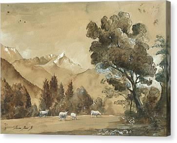 Munich Canvas Print - Cows  by Juan Bosco