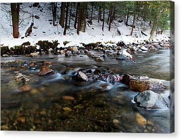 Coxing Kill In December #1 Canvas Print by Jeff Severson