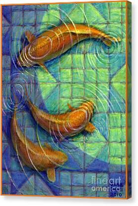 Coy Koi Canvas Print by Jane Bucci