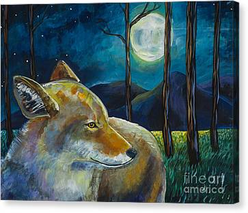 Coyote Moon Canvas Print by Harriet Peck Taylor