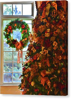 Canvas Print featuring the photograph Cozy Christmas by Diane Alexander