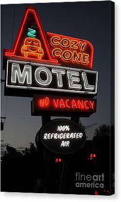 Cozy Cone Motel - Radiator Springs Cars Land - Disney California Adventure - 5d17746 Canvas Print by Wingsdomain Art and Photography