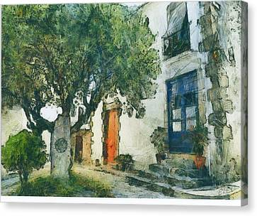 Cozy Garden, Sant Pol De Mar, Spain Canvas Print by Evgeny Leonov