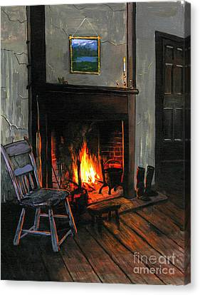 Cozy Canvas Print by Robert Foster