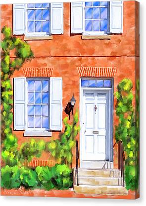 Cozy Rowhouse Style Canvas Print