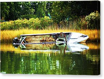 Crab Boat Retired Canvas Print
