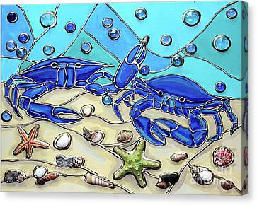 Crab Conversation Canvas Print