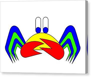 Crab-mac-claw The Crab Canvas Print by Asbjorn Lonvig