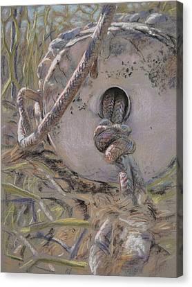 Crab Pot Float Canvas Print by Christopher Reid