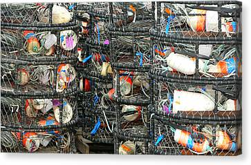 Crab Traps Canvas Print by Larry Keahey