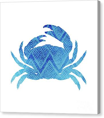 Blue Claw Crab Canvas Print - Crab, Tropical Caribbean Blue Crab by Tina Lavoie