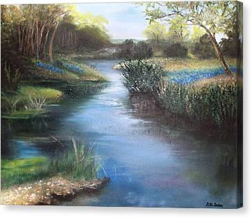 Crabapple Creek Evening Canvas Print