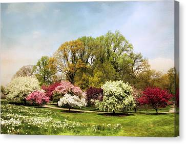Crabapple Grove Canvas Print by Jessica Jenney