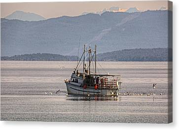 Crabbing Canvas Print by Randy Hall