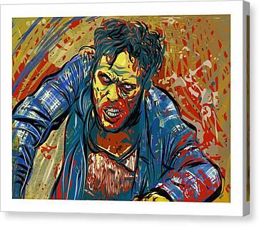 Canvas Print featuring the digital art Crabby Joe by Antonio Romero