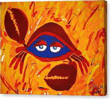 Crabby Canvas Print by Yshua The Painter