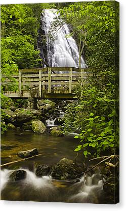 Crabtree Falls And Bridge Canvas Print