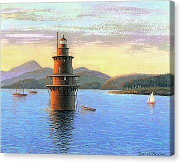 Crabtree Ledge Light Canvas Print by Paul Breeden