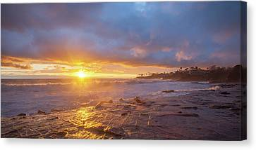 Canvas Print featuring the photograph Crack In The Sky by Cliff Wassmann