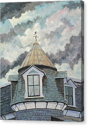 Crack The Sky Canvas Print by Richard T Pranke