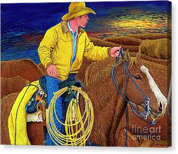 Cracker Cowboy Sunrise Canvas Print