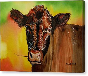 Cracker Moo Canvas Print by Maria Barry