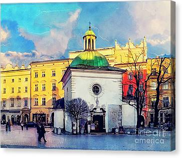 Cracow Church Of St. Wojciech Canvas Print