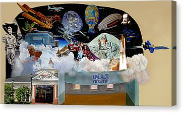 Cradle Of Aviation Museum Imax Theatre Canvas Print by Bonnie Siracusa
