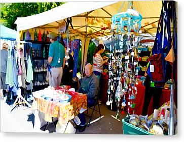 Saugerties Canvas Print - Craft Vendors by Lanjee Chee