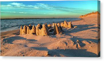 Sand Castles Canvas Print - Crafted With Care By Tiny Hands by Betsy Knapp