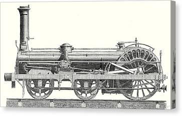 Crampton Locomotive Canvas Print