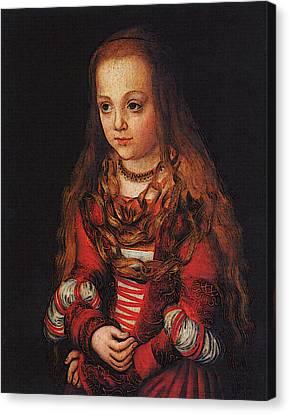 Cranach Lucas The Elder A Princess Of Saxony Canvas Print